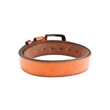 Swiss Design Leatherite Casual Belt For Men_Sd112tn - Tan