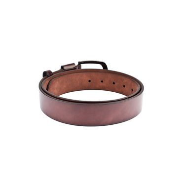 Swiss Design Leatherite Casual Belt For Men_Sd117br - Brown
