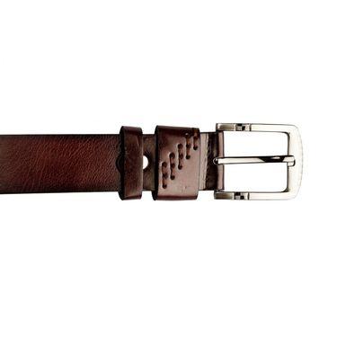 Swiss Design Leatherite Casual Belt For Men_Sd119br - Brown