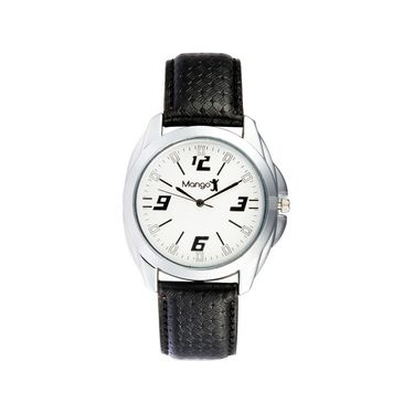 Mango People Round Dial Watch For Men_MP012 - White