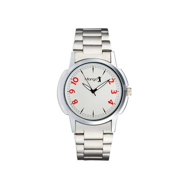 Mango People Round Dial Watch For Men_MP013 - Silver