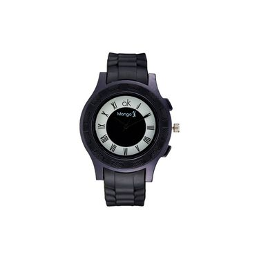 Mango People Round Dial Watch For Men_MP032 - Black