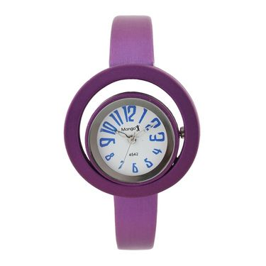 Mango People Round Dial Watch For Women_MP4542PR01 - White