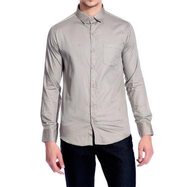 Brohood Slim Fit Full Sleeve Shirt For Men_A5031 - Grey