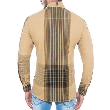 Brohood Slim Fit Full Sleeve Cotton Shirt For Men_C7002 - Beige