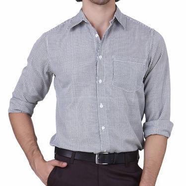 Mind The Gap Full Sleeves Shirt For Men_S7170 - White & Grey