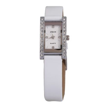 Oleva Analog Wrist Watch For Women_Olw5sw - Silver & White
