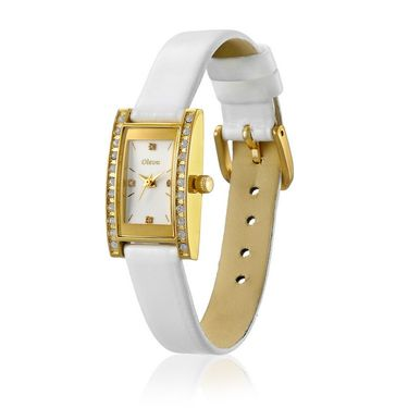 Oleva Analog Wrist Watch For Women_Olw5gw - Gold & White