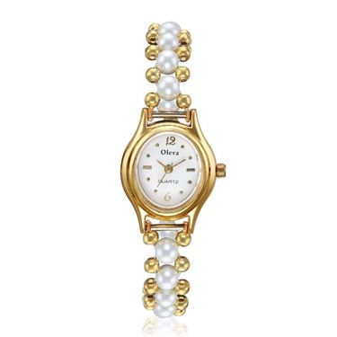 Oleva Analog Wrist Watch For Women_Opw1g - White