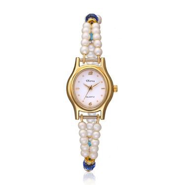 Oleva Analog Wrist Watch For Women_Opw82 - White
