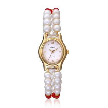 Oleva Analog Wrist Watch For Women_Opw84 - White