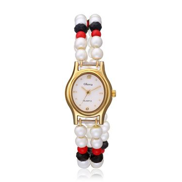 Oleva Analog Wrist Watch For Women_Opw89 - White