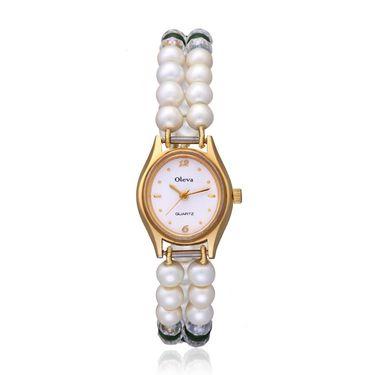 Oleva Analog Wrist Watch For Women_Opw90 - White