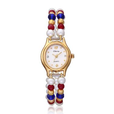 Oleva Analog Wrist Watch For Women_Opw93 - White