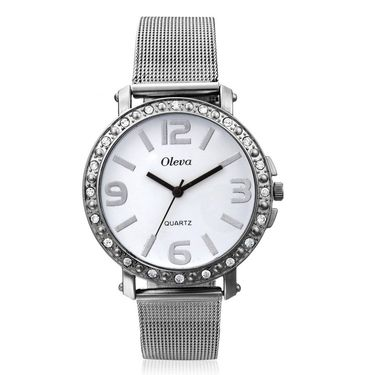 Oleva Analog Wrist Watch For Women_Osw4w - White