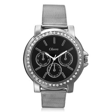Oleva Analog Wrist Watch For Women_Osw6b - Black