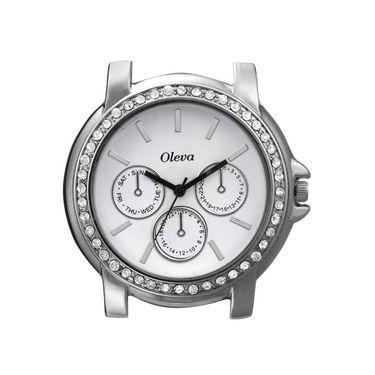 Oleva Analog Wrist Watch For Women_Osw6w - White