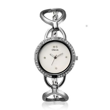 Oleva Analog Wrist Watch For Women_Osw11w - White