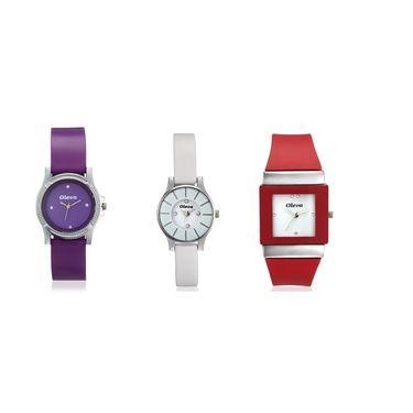 Combo of 3 Oleva Analog Wrist Watches For Women_Opuc11