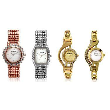 Combo of 4 Oleva Analog Wrist Watches For Women_Ovd1002