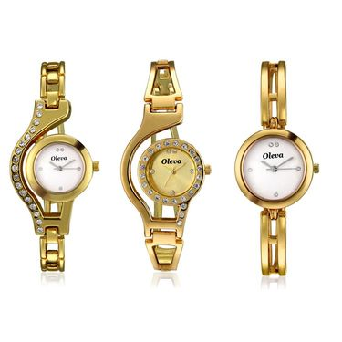 Combo of 3 Oleva Analog Wrist Watches For Women_Ovd1005