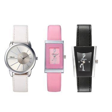 Combo of 3 Oleva Analog Wrist Watches For Women_Ovd169