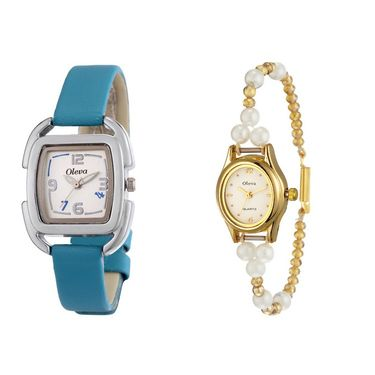 Combo of 2 Oleva Analog Wrist Watches For Women_Ovd166