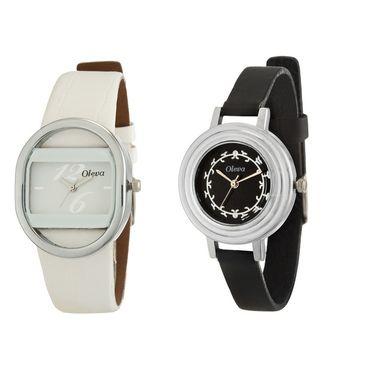 Combo of 2 Oleva Analog Wrist Watches For Women_Ovd163