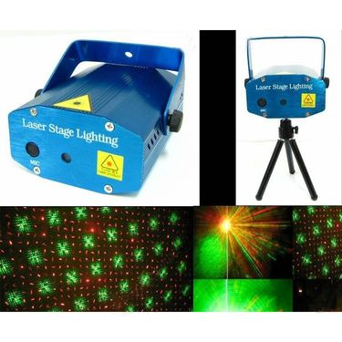 ZINGALALAA Unica Mini Laser Projector Stage Lighting Sound Activated Laser Light For Party & Dj