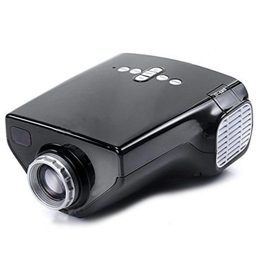 ZINGALALAA E03 16W Mini Multimedia LCD Image System LED Projector with HDMI / USB / VGA / Micro SD / TV Port - Black OPJ-324099