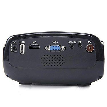 ZINGALALAA E03 16W Mini Multimedia LCD Image System LED Projector with HDMI / USB / VGA / Micro SD / TV Port - Black OPJ-324099