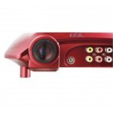 ZINGALALAA 480 x 240 Portable Home Theater DVD Projector w/ TV + USB + SD - Red