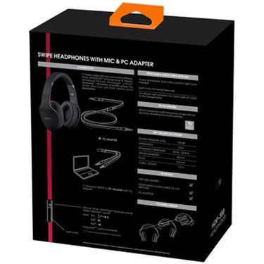 INTERSTEP IS-MU-HDP200BLK Over the head Wired Headphones - Black