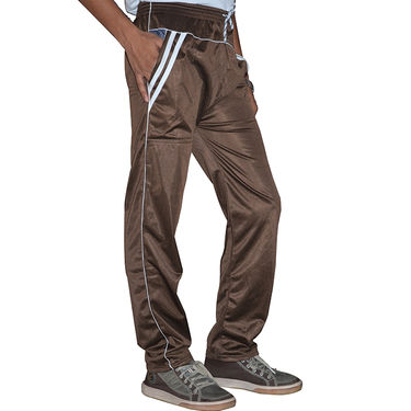 Delhi Seven Regular Fit Trackpant For Men_MU016  - Brown