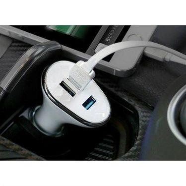 Flashmob Premium 3 Port 2.1Amp Car Charger - White