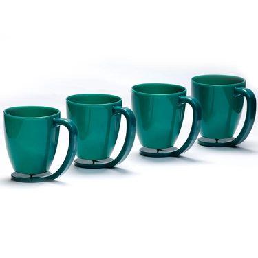 Kitchen Duniya Set of 4 Floating Mugs-Dark Green