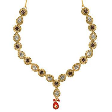 Spargz Alloy Metal Necklace Set_Ains047
