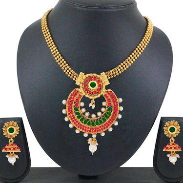Spargz Brass Metal Necklace Set_Ains122