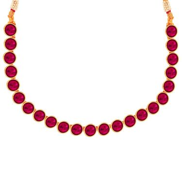 Spargz Brass Metal Necklace Set_Kns3073