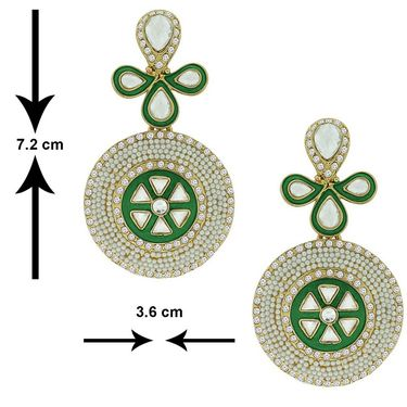 Spargz Alloy Metal Earring_Aier181