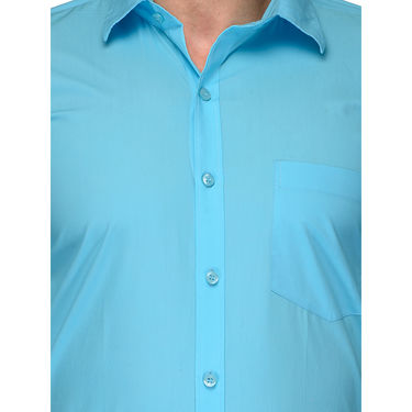 Being Fab Cotton Formal Shirt_Bfs21 - Sky Blue