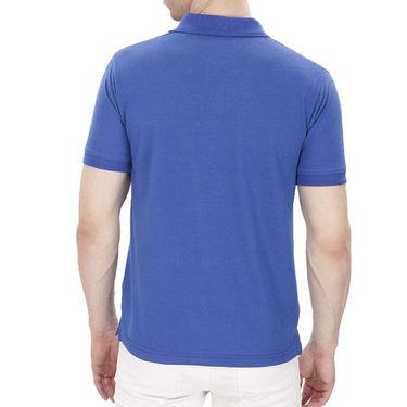 Pack of 3 Oh Fish Plain Polo Neck Tshirts_P3blkredblu