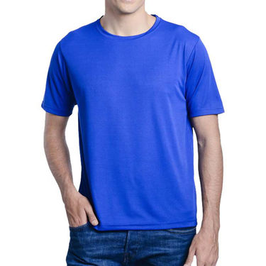 Pack of 2 Oh Fish Plain Round Neck Tshirts_Df2blublk - Blue & Black