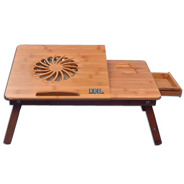 DGB Jumbo Wooden Laptop Table with Cooling Fan - Wooden