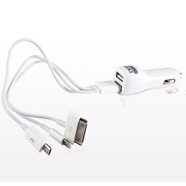 DGB Panthor 3.1A USB Car Charger with Dual Slot - White