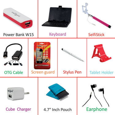 Callmate Combo of Tablet cum Mobile Accessories(10)