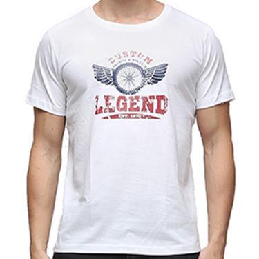 Effit Half Sleeves Round Neck Tshirt_Etscrn015 - White