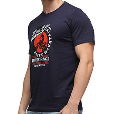 Effit Half Sleeves Round Neck Tshirt_Etscrn019 - Navy Blue