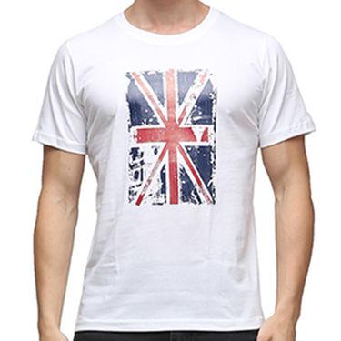 Effit Half Sleeves Round Neck Tshirt_Etscrn036 - White