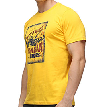 Effit Half Sleeves Round Neck Tshirt_Etscrnl005 - Yellow